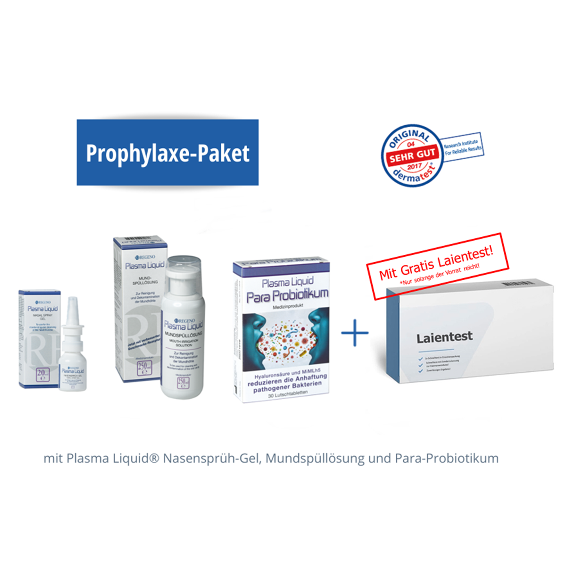 PLASMA PROPHYLAXE-PAKET INKL. LAIENTEST